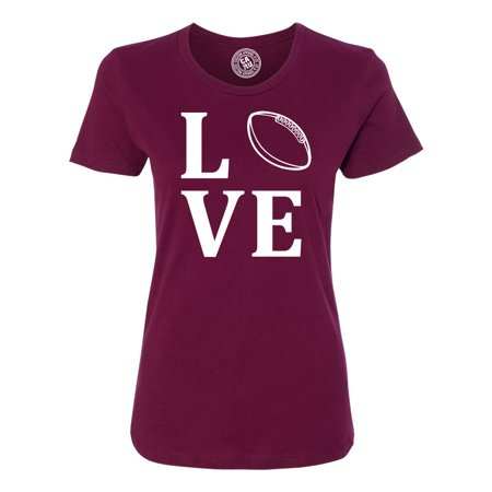 Love Football Sports Jersey Womens Graphic Tees Short Sleeve