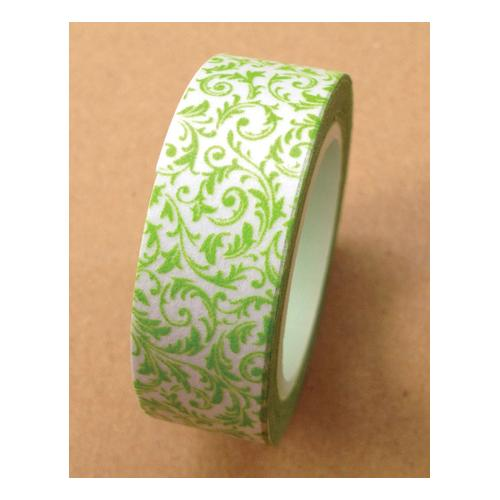 Washi Tape 15mmX10m-Green Leaf