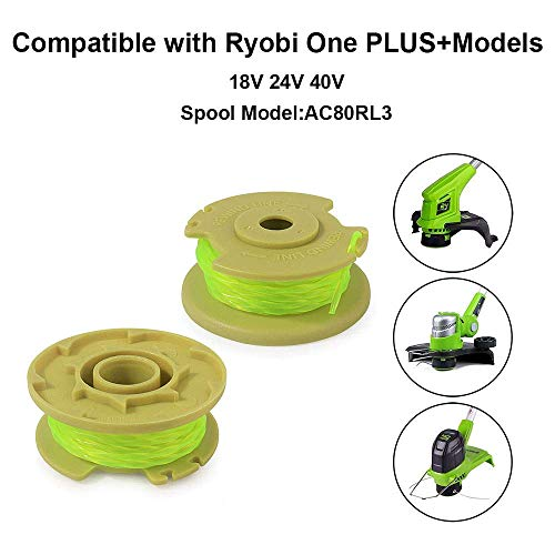 11ft 0.080 Replacement Trimmer Spool for Ryobi One Plus AC80RL3 ...