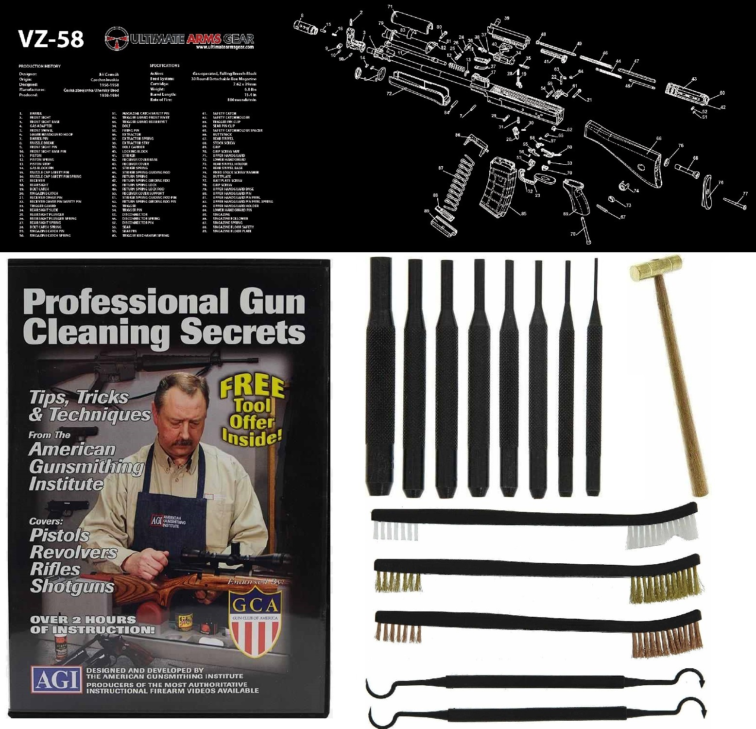 AGI DVD Professional Gun Cleaning Course Secrets + Ultima...