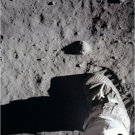 Astronaut Boots (Apollo 11 Astronaut Boot And Boot Print On The Surface Of The Moon July 20)