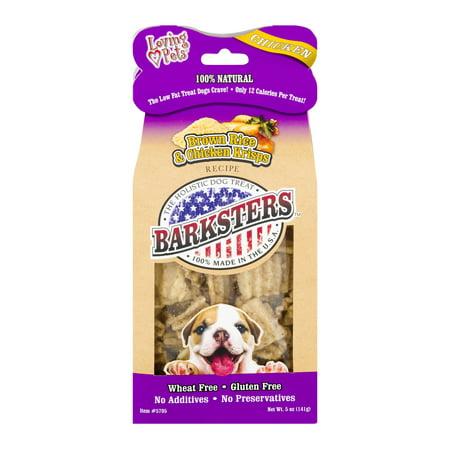- Loving Pets Barksters Dog Treats Brown Rice & Chicken Krisps, 5.0 OZ