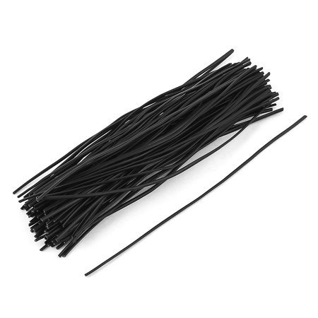 100 Pcs Plastic Shell Package Reusable Twist Ties Cable Wires Fasteners 150mm (Clear Twist Ties)