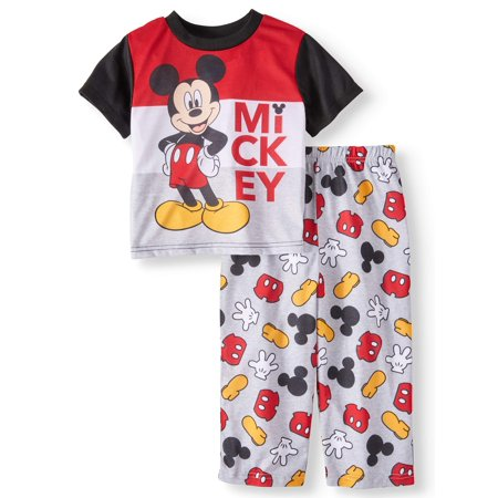 Toddler Boys' Mickey Mouse Short Sleeve Top and Pants, 2-Piece Pajama Set - Mickey Mouse Custom