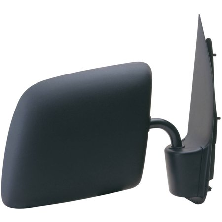 61063F - Fit System Passenger Side Mirror for 92-06 Ford Econoline Van, black, foldaway, Convex, Manual ()