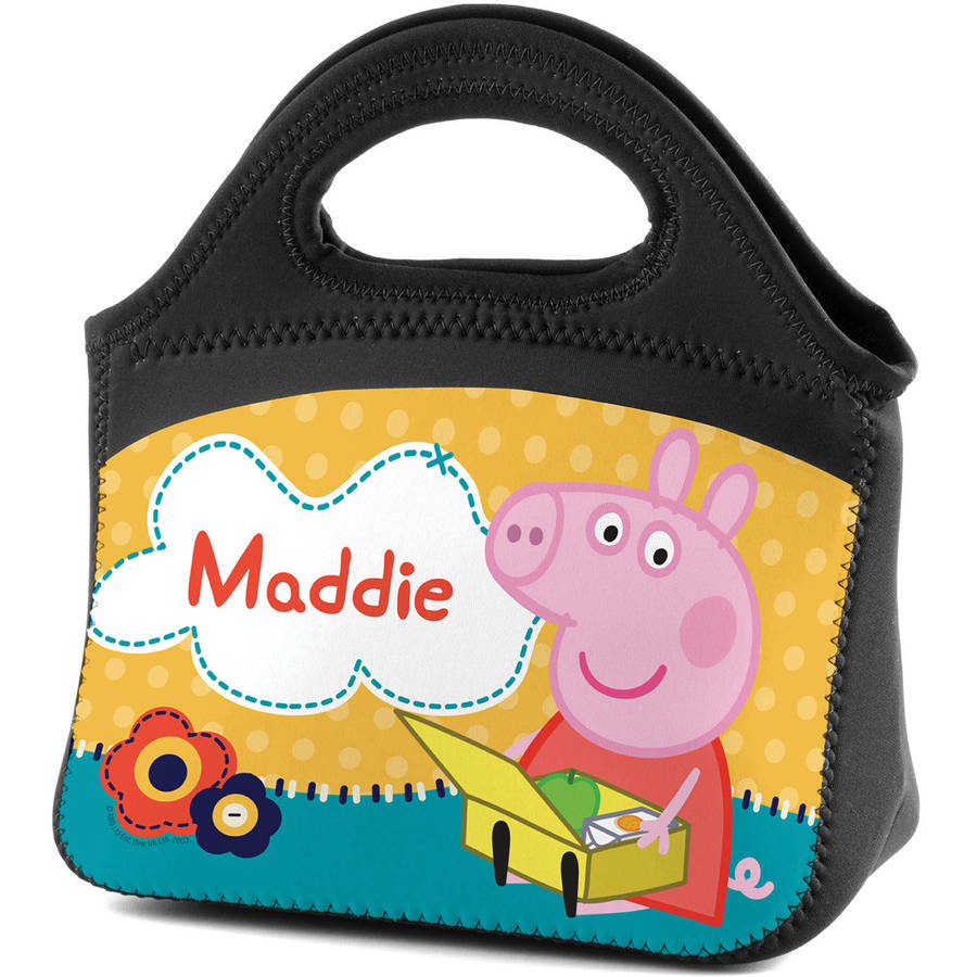 Personalized Peppa Pig Picnic Time Kids Lunch Tote