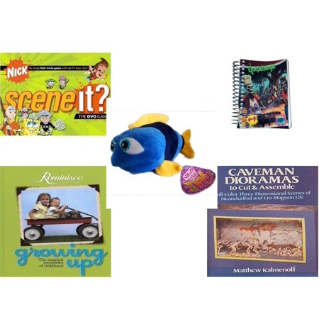 Children's Gift Bundle [5 Piece] - Scene It? Nickelodeon DVD Board -  Goosebumps Reading Is A Scream #4 Notepad - Sugarloaf s Fish 11