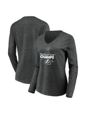 Tampa Bay Lightning Fanatics Branded Women's 2020 Stanley Cup Champions Locker Room Laser Shot Long Sleeve V-Neck