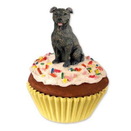PC48 Staffordshire Bull Terrier Brindle Pupcake Trinket Box ()