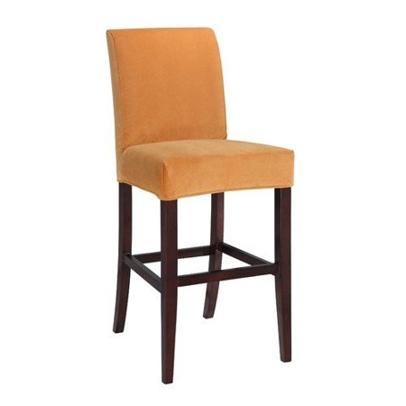 Butternut gold velvet slip over for counter stool or bar stool pack 1 - Bar height chair slipcovers ...