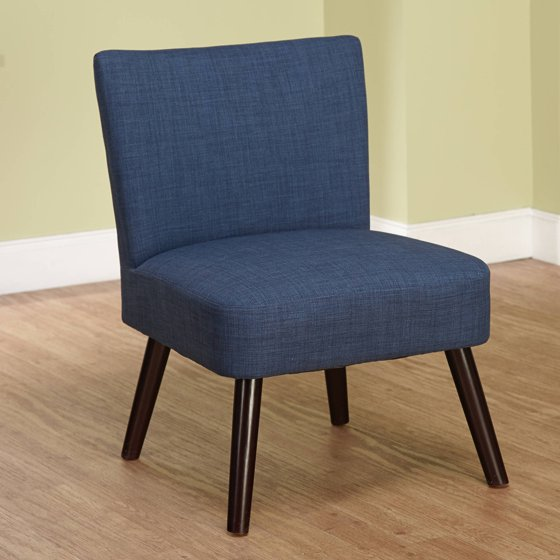 Navy Vero Large Accent Chair: Simple Living Delilah Navy Accent Chair