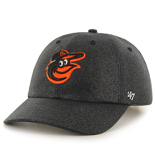 Baltimore Orioles '47 Women's Luster Clean Up Adjustable Hat - Black - OSFA
