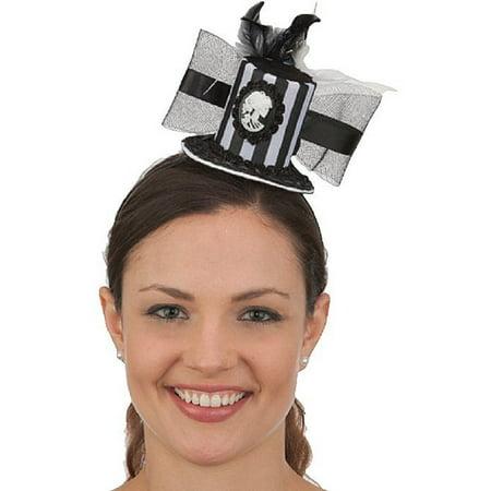 Mini Cameo Skeleton Steampunk Victorian Top Hat Headband Costume Accessory