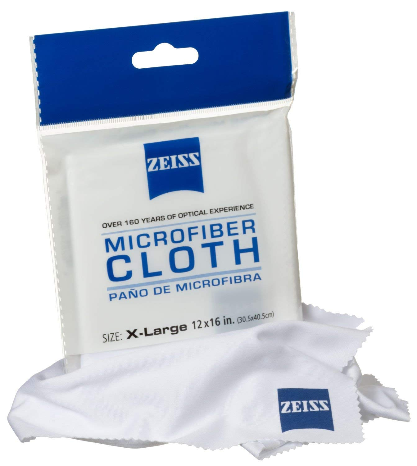 "ZEISS JUMBO MICROFIBER LENS CLEANING CLOTH 12"" X 16"""