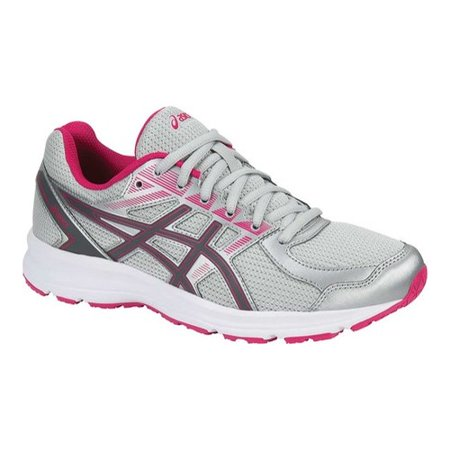 Asics Women's Jolt Glacier Grey / Carbon Bright Rose Ankle-High Running Shoe - 7M