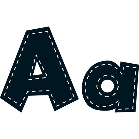 4IN FUN FONT LETTERS BLACK -