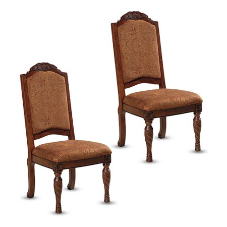 North Shore Dark Brown Dining UPH Side Chair D553-02 - Set Of 2 Signature Design by Ashley
