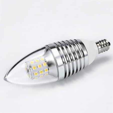 - 7W Dimmable LED Filament Candle Light Bulb,E12 Candelabra Base Crystal Light Bulb