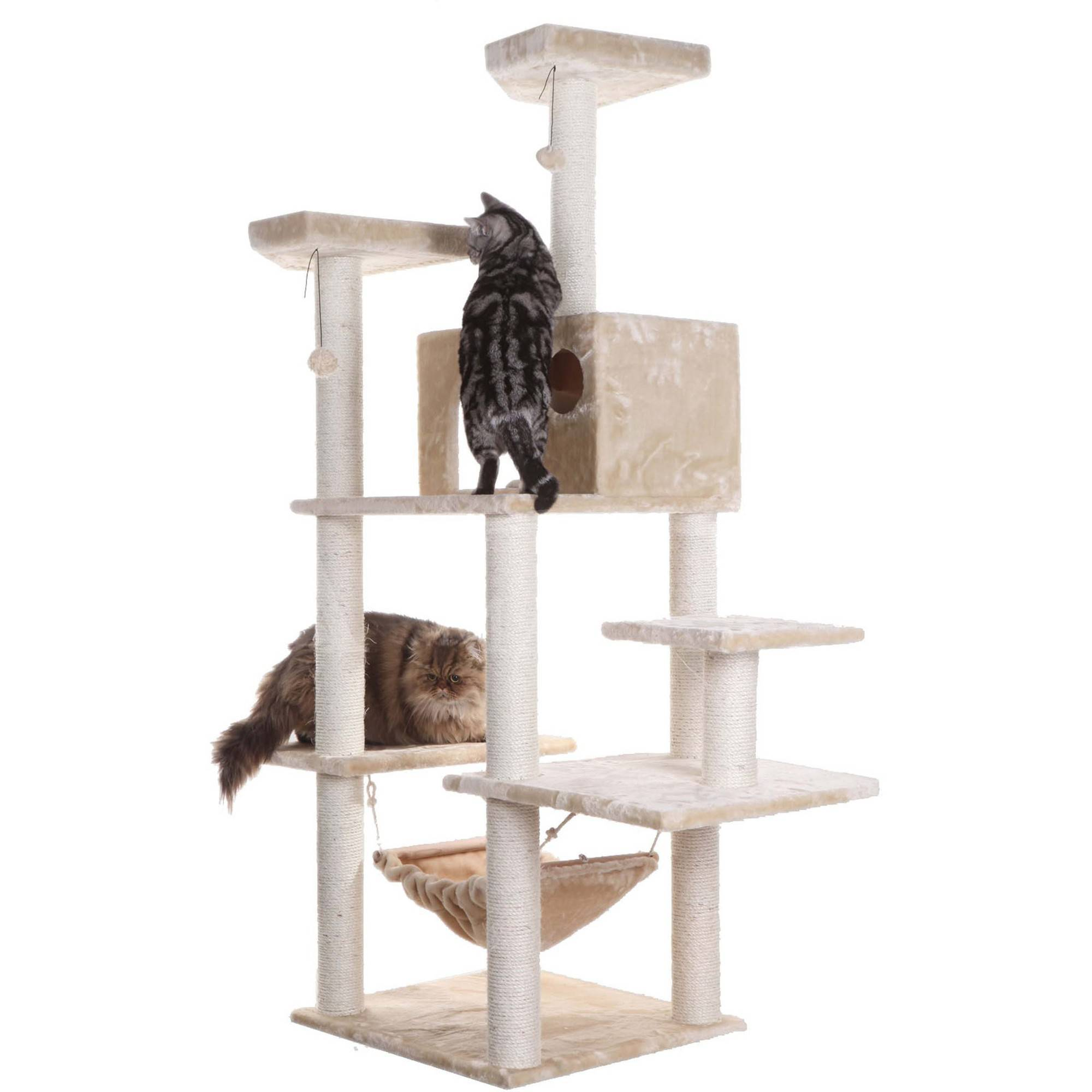 Armarkat Classic Cat Tree A7202 72 Inch, Beige by Aeromark Intl Inc