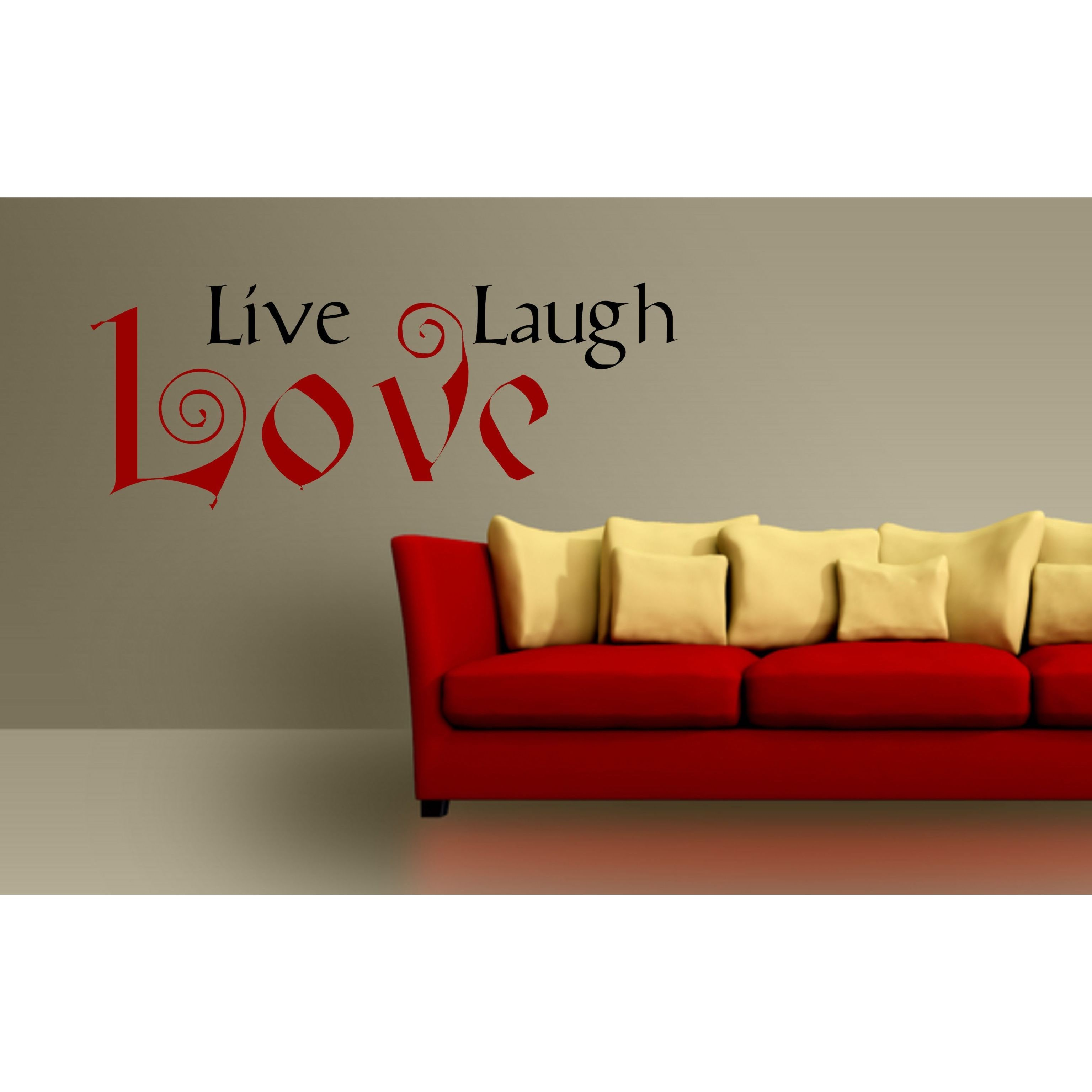 Everything Vinyl Decor Live Laugh Love Vinyl Wall Art