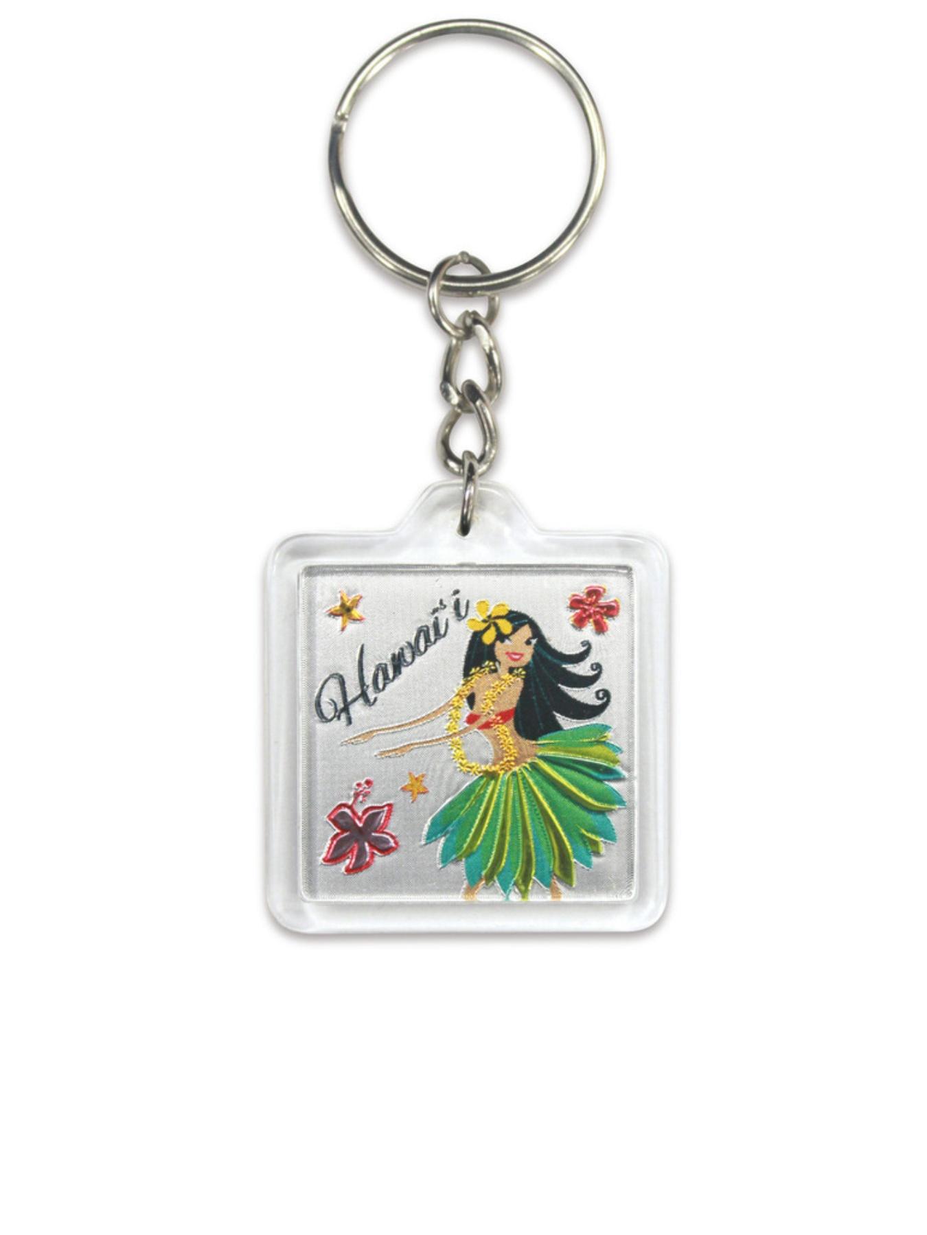 Hawaii Acrylic Foil Keychain Island Hula Honeys