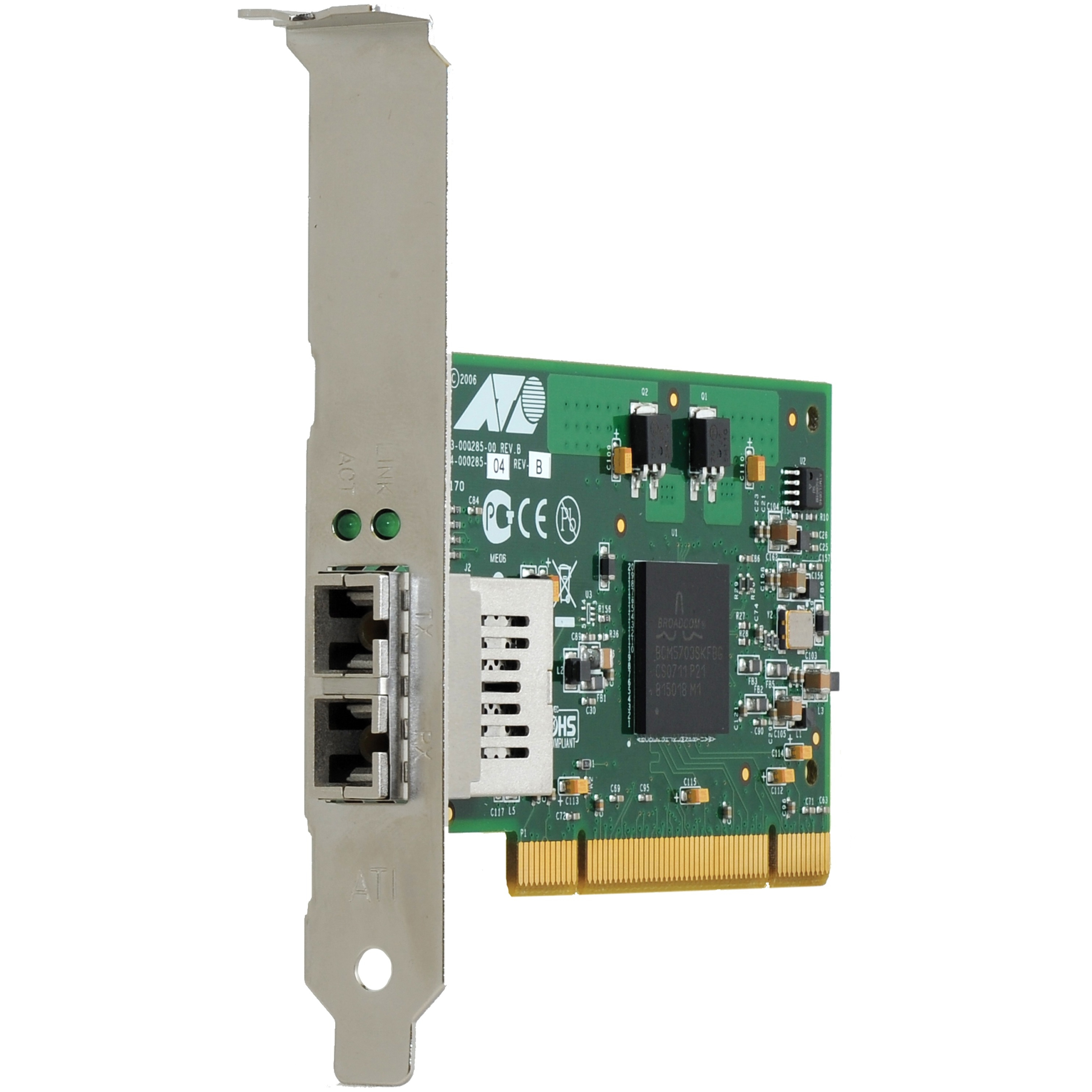 Allied Telesis At-2916sx Fiber Network Interface Card - Pci - 1 X Lc - 1000base-sx (at2916sx/lc901)