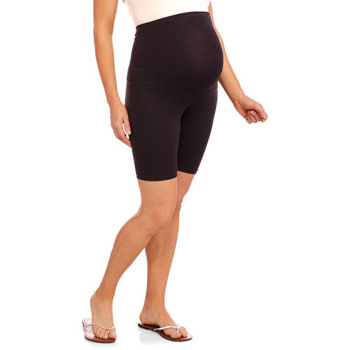 Maternity Full Panel Knit Bermuda Shorts--Available In Plus Sizes by