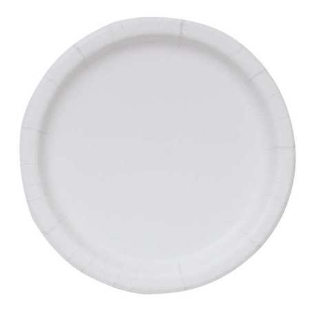 VALUE BRAND Disposable Plate White  20725  sc 1 st  Nextag & Biodegradable paper plates | Compare Prices at Nextag