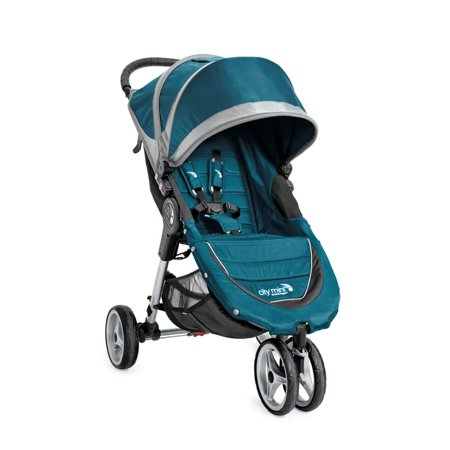 2008 Single Stroller - Baby Jogger 2016 City Mini 3W Single Stroller - Teal/Gray