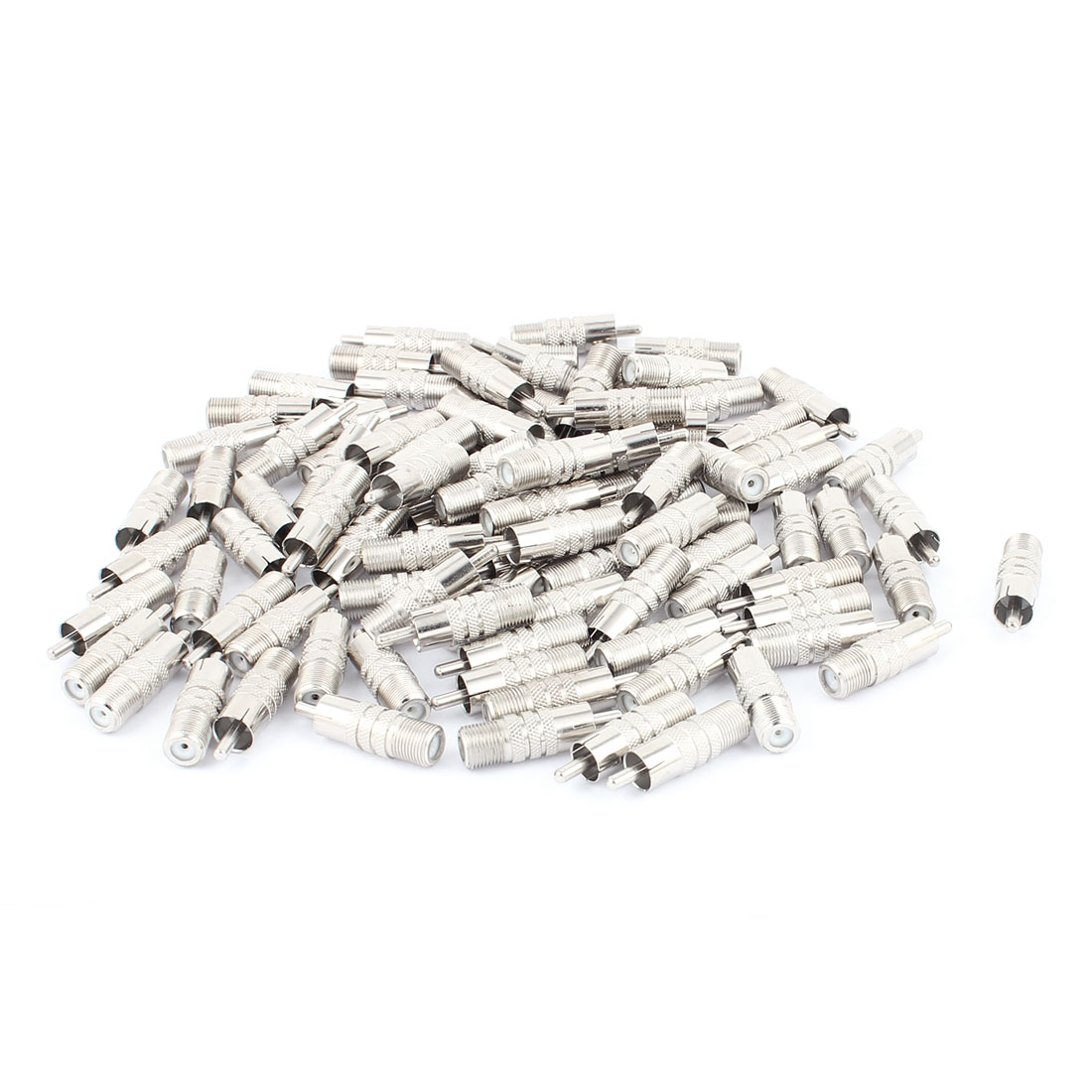 UXcell 100Pcs F-Type Female to RCA Male RF Adapter Connec...