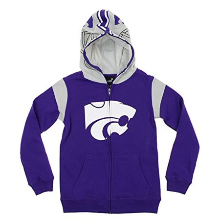 State Wildcats Spring - NCAA Youth Kansas State Wildcats Full Zip Fleece Helmet Hoodie