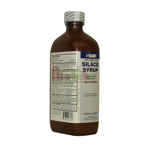 Silarx Silace Docusate Sodium Stool Softener Syrup 16 Oz