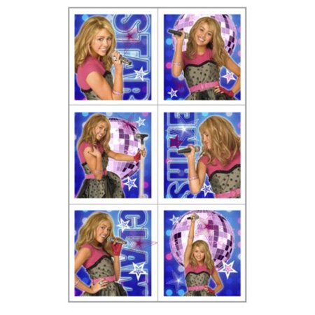 Hannah Montana Sticker Card (Hannah Montana Rock the Stage Sticker Sheets 4 Party Supplies)
