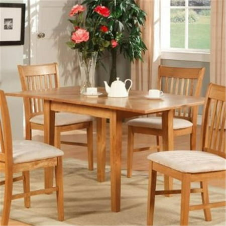 East West NFT-OAK Norfolk rectangular dinette kitchen table 32 in. 54 in. with 12 in. Butterfly Leaf -Oak Finish., -