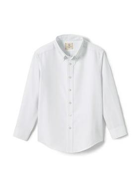 Lands' End Boys 4-20 School Uniform Long Sleeve Button-Up Oxford Shirt