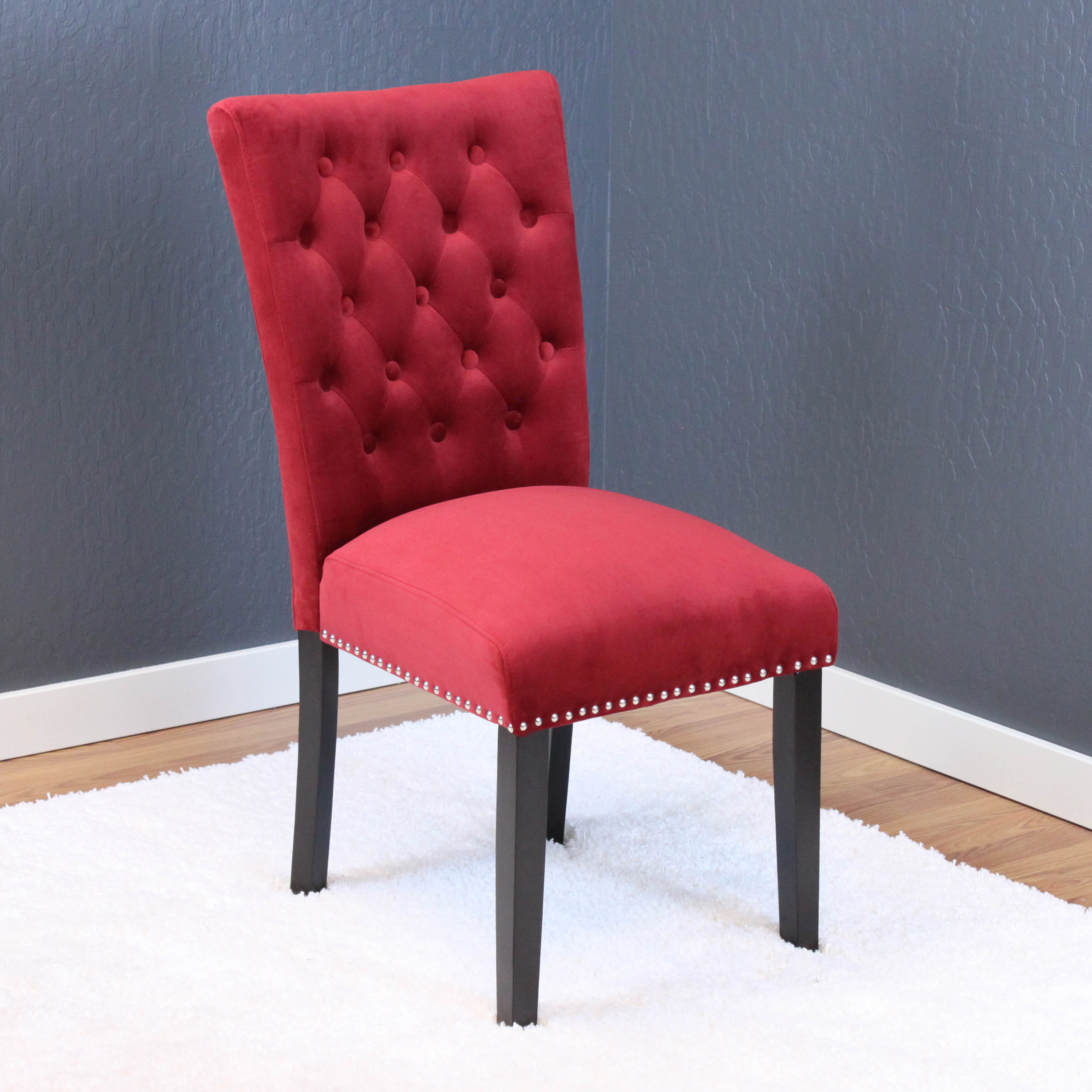 Markelo Taupe Velvet Dining Chairs (Set of 2)