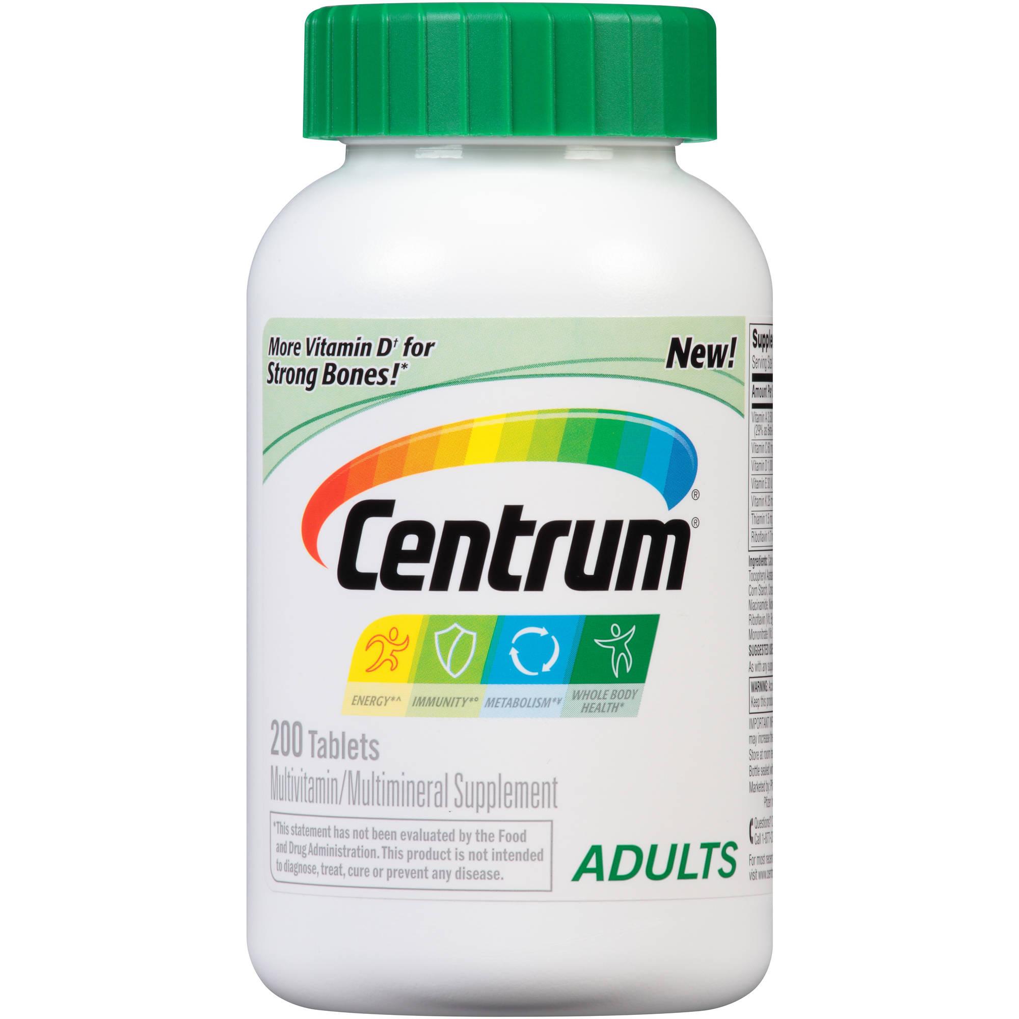 Centrum Adult Multivitamin/Multimineral Tablets 200 Count