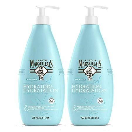 Le Petit Marseillais Mediterranean Algae & Marine Minerals Hydrating Body Milk Lotion, 8.4 Fl. Oz, 2 Pack (Marine Lotion)