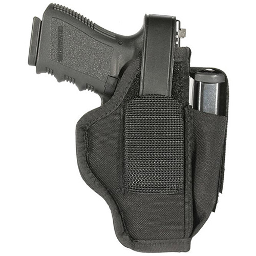 "BlackHawk Ambidextrous Multi-Use Holster with Magazine Pouch, Size 06 fits 3.25"" - 3.75"" Barrel Medium and Large Autos, Black"