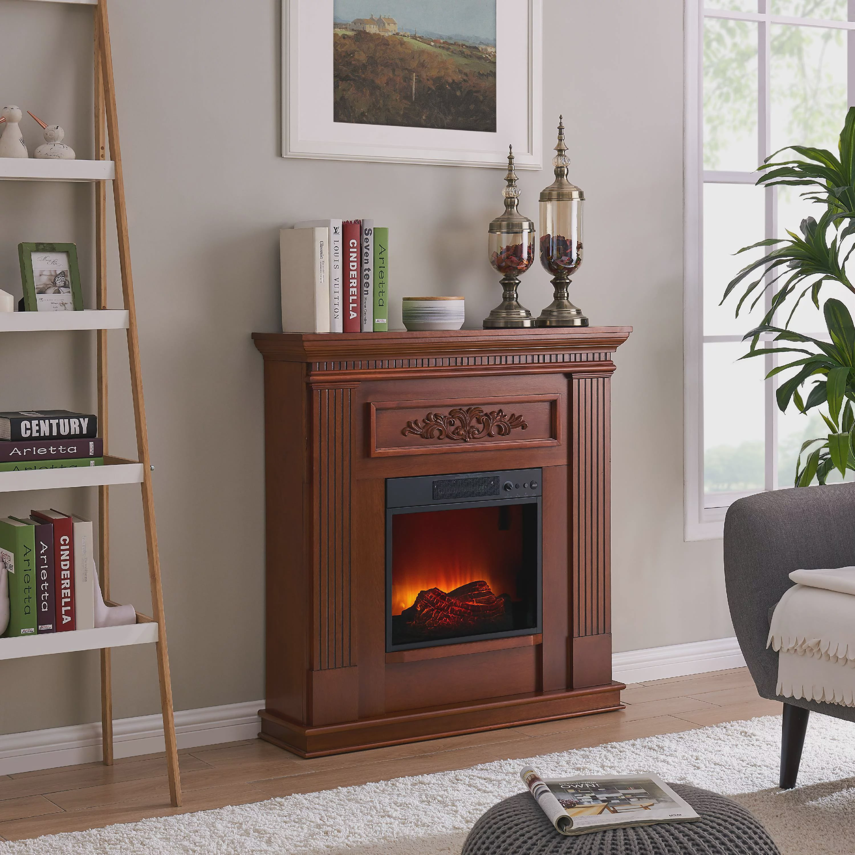 Bold Flame 38 Inch Wall Corner Electric Fireplace Heater In Dark