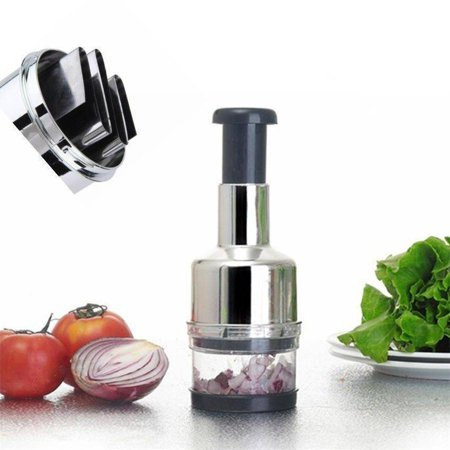 Hot Choppers - Kitchen Stainless Vegetable Garlic Onion Slicer Pressing Chopper Cutter Food Hot