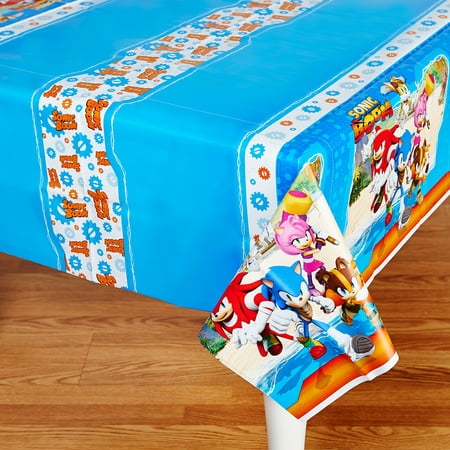 Sonic Boom Sonic The Hedgehog Party Supplies Tablecover