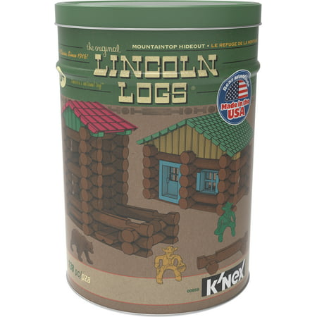 LINCOLN LOGS Mountaintop Hideout Tin - 138 (Lincoln Logs Building Instructions)