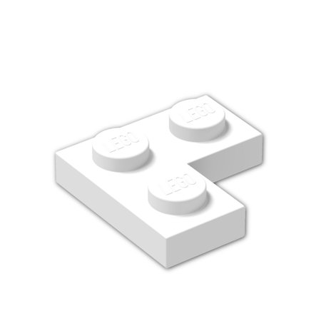 Brick Building Sets Original Lego Parts: Plate 2 x 2 Corner (2420 - Pack of 8) (White)