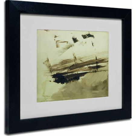 """Trademark Fine Art """"Evocation of an Island, 1870"""" Matted Framed Art by Victor Hugo, Black Frame"""