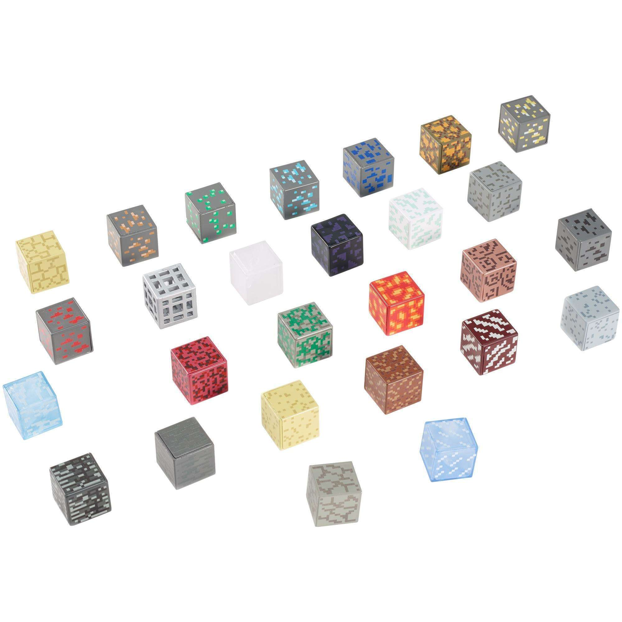 Minecraft Periodic Table with 27 1-inch Element Blocks
