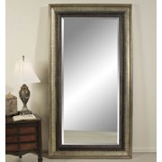 Bassett Transitions Galindo Leaner Mirror in Antique Silver