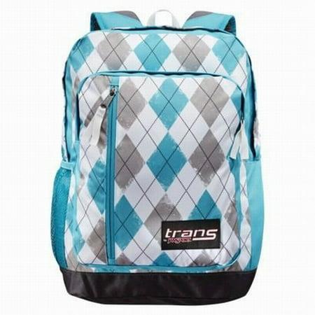 Jansport Trans Blue & Gray Argyle MegaHertz Backpack Sport ...