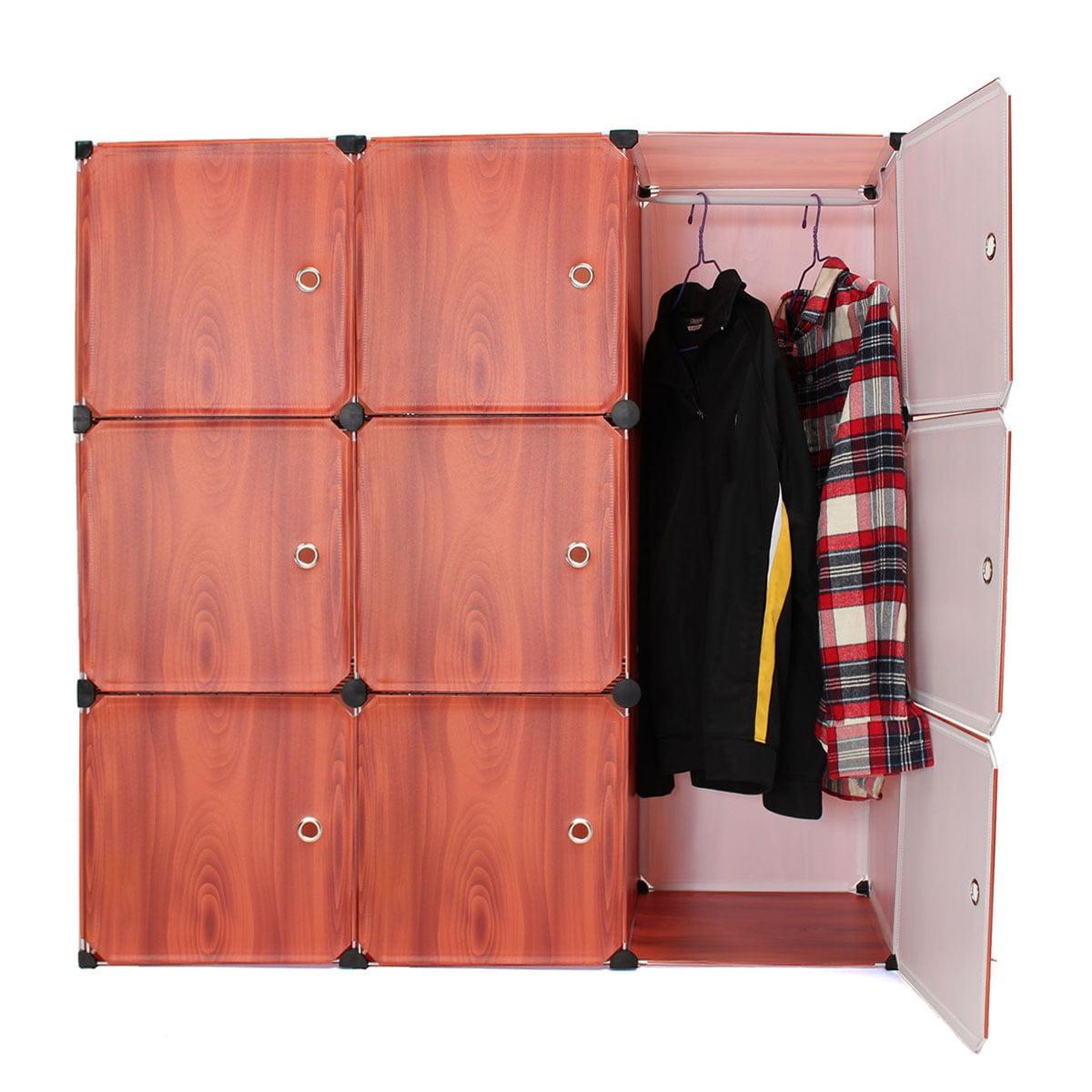 9 Interlocking Cube Storage Wardrobe Shelves Closet Shoe Rack Book Shelf Cabinet DIY