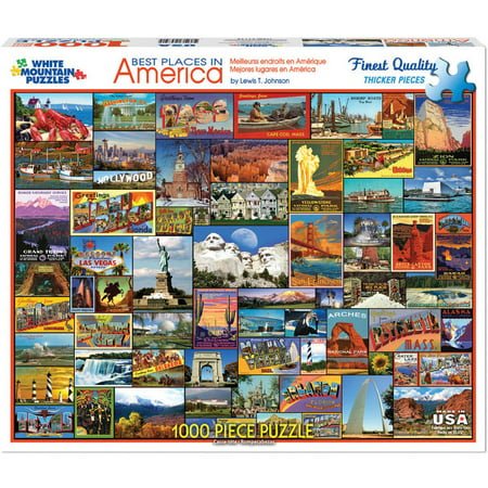 White Mountain Puzzles Best Places In America - 1000 piece Jigsaw (Best Selling Puzzle)